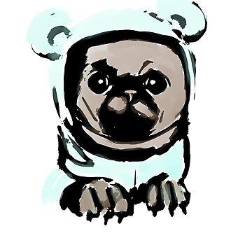 Pug in the hood by KKartist