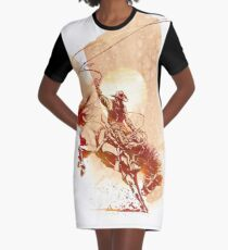 Bucking Bronco Graphic T-Shirt Dress