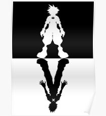 Kingdom Hearts - Sora & Roxas Inverse - Poster Poster