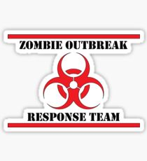 Zombie Outbreak Response Team  - RED Sticker
