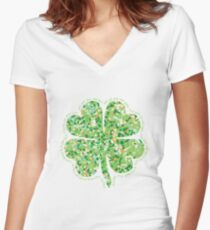 Irish Blessing: May the Road Rise Up to Meet You Women's Fitted V-Neck T-Shirt