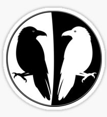 Huginn and Muninn Publishing Logo - Odin's Ravens Sticker