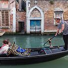 Gondalier at work, Venice by Vicki Moritz