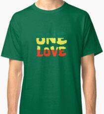 One Love Reggae Rasta Peace Weed Stoner Classic T-Shirt