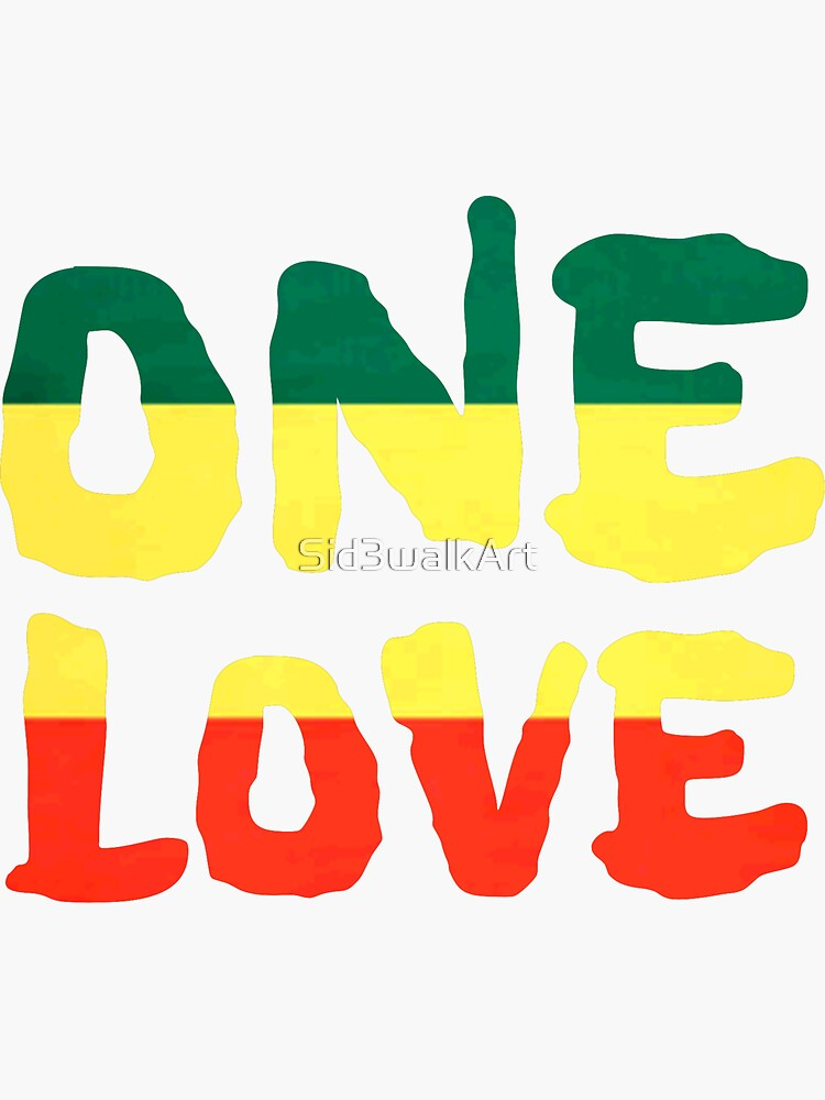 One Love Reggae Rasta Peace Weed Stoner de Sid3walkArt