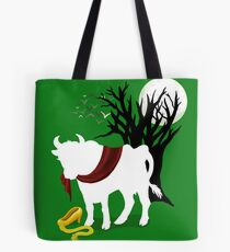 Into the Woods -  Green Background Tote Bag