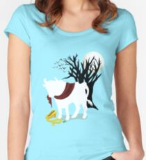 Into the Woods - No Background Women's Fitted Scoop T-Shirt