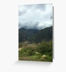 Sacred Valley Greeting Card