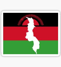 Malawi Flag With Map of Malawi Sticker