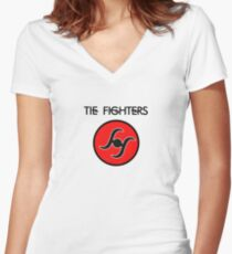 T. Fighters Women's Fitted V-Neck T-Shirt