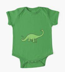 Happy Diplodocus - dinosaur design by Cecca Designs One Piece - Short Sleeve