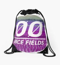Rice Fields Drawstring Bag