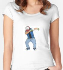 Ash Ketchum Dab Women's Fitted Scoop T-Shirt