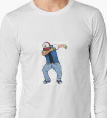 Ash Ketchum Dab Long Sleeve T-Shirt