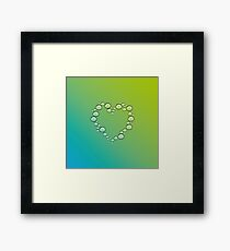 heart of water drops Framed Print