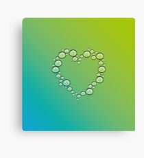 heart of water drops Canvas Print