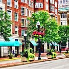 Boston MA - Shops Along Boyleston Street by Susan Savad