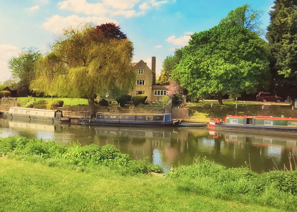 Bidford on Avon Blue Sky by StephenRphoto