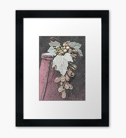 Glass Grapes and Shade Framed Print