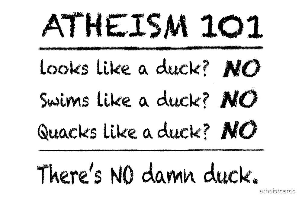 ATHEISM 101 (Light backgrounds) by atheistcards