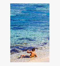 Sexy guy at the beach Photographic Print