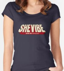SheVibe Comic Logo Women's Fitted Scoop T-Shirt