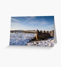 Snow on the estuary Greeting Card