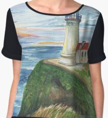 North Head Lighthouse Women's Chiffon Top