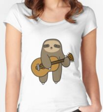 Guitar Sloth Women's Fitted Scoop T-Shirt
