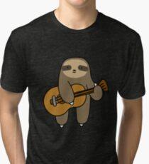 Guitar Sloth Tri-blend T-Shirt