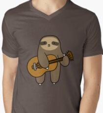 Guitar Sloth Men's V-Neck T-Shirt