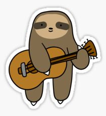 Guitar Sloth Sticker