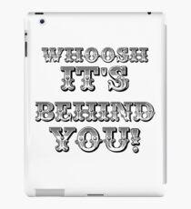 Whoosh It's Behind You ( Sheffield Steelers ) iPad Case/Skin