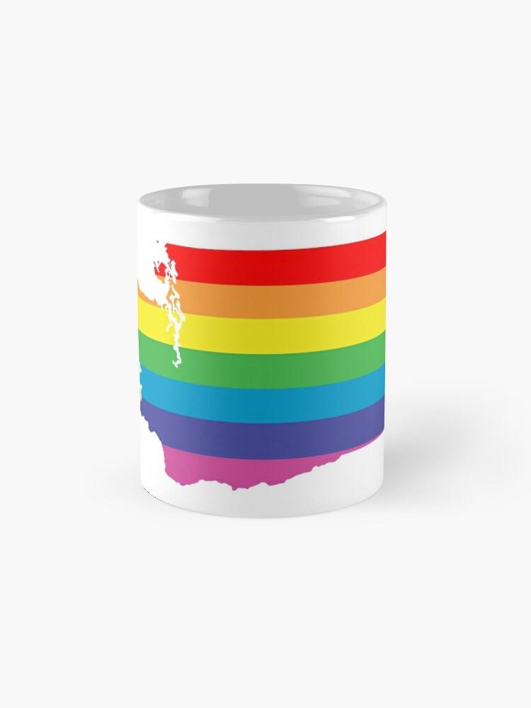 Alternative Ansicht von Washington Regenbogen Tassen