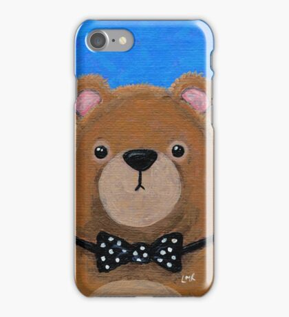 Brown Bear in a Bow Tie iPhone Case/Skin