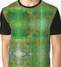 Green Geometric Lines Abstract Fractal Graphic T-Shirt