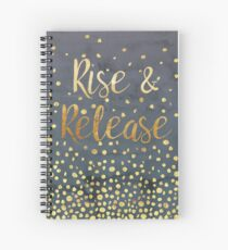 Rise and Release - Gold on Smoky Navy Spiral Notebook