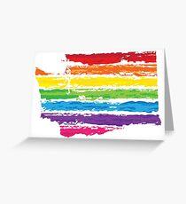 washington color strokes Greeting Card