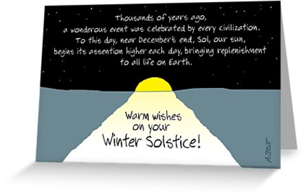 Warm wishes on your winter solstice greeting cards by atheistcards warm wishes on your winter solstice by atheistcards m4hsunfo