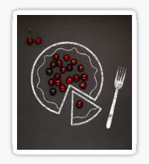 Cherry pie. Sticker
