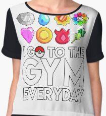Pokemon - I GO TO THE GYM EVERY DAY - Transparent Women's Chiffon Top
