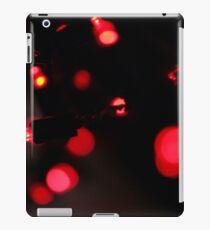 Cool Festive Fairy Lights Red iPad Case/Skin