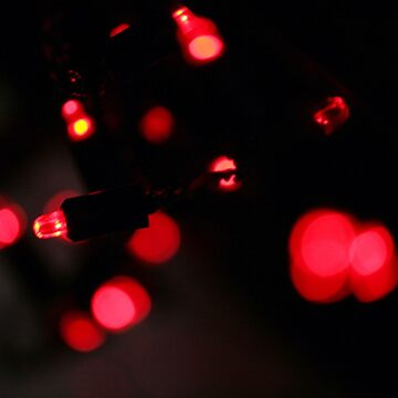 Cool Festive Fairy Lights Red by tobiphoto