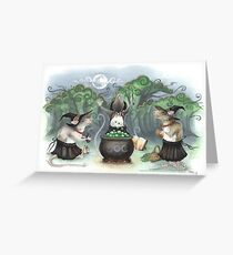 Three Wee Witches Greeting Card
