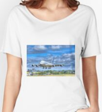 Airbus A380 Landing Women's Relaxed Fit T-Shirt