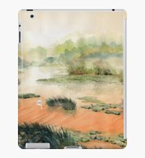 Egret on the marsh iPad Case/Skin