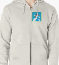 WLW logo small Zipped Hoodie
