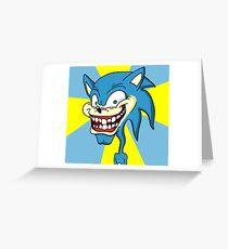 Creepy Sonic Greeting Card