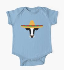 Cow Wearing a Sombrero One Piece - Short Sleeve