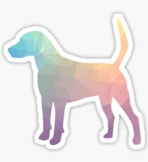 Harrier Hound - Colorful Geometric Pattern Silhouette - Pastel Sticker